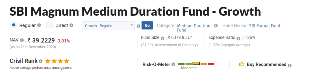 SBI Magnum Medium Duration Fund