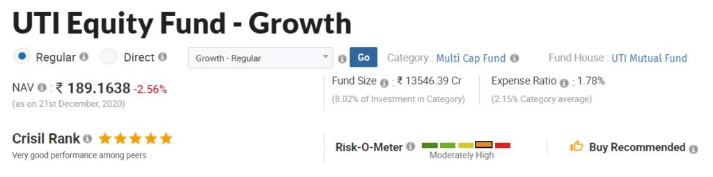 UTI Equity Fund - Growth